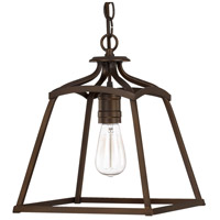 Signature 1 Light 11 inch Burnished Bronze Foyer Pendant Ceiling Light