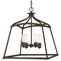 Capital Lighting Signature 4 Light Foyer Pendant in Burnished Bronze 9102BB