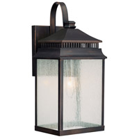 Capital Lighting Sutter Creek 1 Light Outdoor Wall Lantern in Old Bronze with Seeded Glass 9111OB