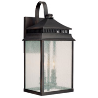 Capital Lighting Sutter Creek 2 Light Outdoor Wall Lantern in Old Bronze with Seeded Glass 9112OB