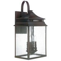 Capital Lighting Sutter Creek 4 Light Outdoor Wall Lantern in Oil Rubbed Bronze with Antique Glass 9115OB