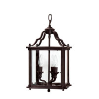 Capital Lighting Signature 3 Light Foyer Pendant in Blacksmith Black 9123BL