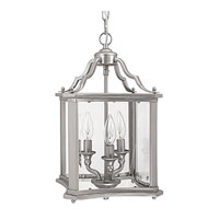 Capital Lighting Signature 3 Light Foyer in Matte Nickel with Clear Beveled 9123MN