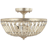 Fifth Avenue 3 Light 14 inch Winter Gold Semi-Flush Mount Ceiling Light