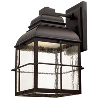 Lanier LED 16 inch Old Bronze Outdoor Wall Lantern in Seeded
