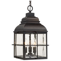 Lanier 3 Light 11 inch Old Bronze Outdoor Hanging Lantern in Antique, Incandescent