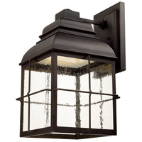 Lanier LED 21 inch Old Bronze Outdoor Wall Lantern in Seeded