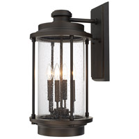 Grant Park 4 Light 25 inch Old Bronze Outdoor Wall Lantern in Incandescent