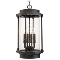 Grant Park 4 Light 13 inch Old Bronze Outdoor Hanging Lantern in Incandescent