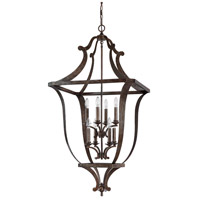 Capital Lighting 9183RT Corday 8 Light 31 inch Rustic Foyer Ceiling Light