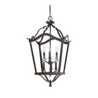 Capital Lighting Signature 6 Light Foyer in Chesterfield Brown 9192CB