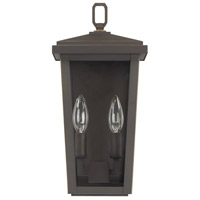 Capital Lighting 926221OZ Donnelly 2 Light 15 inch Oiled Bronze Outdoor Wall Lantern