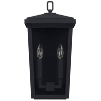 Capital Lighting 926222BK Donnelly 2 Light 18 inch Black Outdoor Wall Lantern