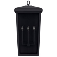 Donnelly 3 Light 32 inch Black Outdoor Wall Lantern