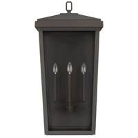 Donnelly 3 Light 32 inch Oiled Bronze Outdoor Wall Lantern