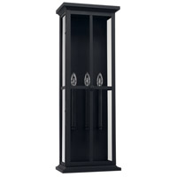 Mansell 3 Light 32 inch Black Outdoor Wall Lantern