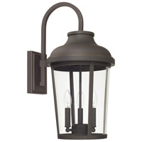 Capital Lighting 927031OZ Dunbar 3 Light 23 inch Oiled Bronze Outdoor Wall Lantern