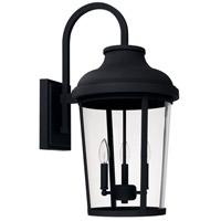 Capital Lighting 927032BK Dunbar 3 Light 27 inch Black Outdoor Wall Lantern