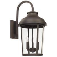 Capital Lighting 927032OZ Dunbar 3 Light 27 inch Oiled Bronze Outdoor Wall Lantern