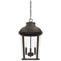 Capital Lighting 927033OZ Dunbar 3 Light 13 inch Oiled Bronze Outdoor Hanging Lantern