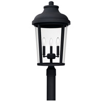 Capital Lighting 927034BK Dunbar 3 Light 25 inch Black Outdoor Post Mount
