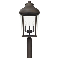 Capital Lighting 927034OZ Dunbar 3 Light 25 inch Oiled Bronze Outdoor Post Mount