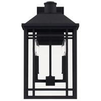 Capital Lighting 927121BK Braden 2 Light 17 inch Black Outdoor Wall Lantern