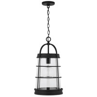 Capital Lighting 927412BK Elijah 1 Light 12 inch Black Outdoor Hanging