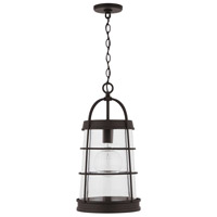 Capital Lighting 927412OZ Elijah 1 Light 12 inch Oiled Bronze Outdoor Hanging