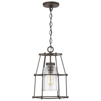 Capital Lighting 929711OZ-462 Elijah 1 Light 11 inch Oiled Bronze Outdoor Hanging