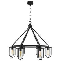 Capital Lighting 934261BK Corbin 6 Light 32 inch Black Outdoor Hanging Chandelier