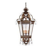 Capital Lighting Grandview 4 Light Foyer Pendant in Dark Spice with Crystals 9342DS-CR photo thumbnail