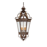 Capital Lighting Grandview 4 Light Foyer in Dark Spice with Seeded Glass 9342DS photo thumbnail