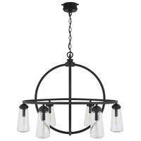 Capital Lighting 934361BK Signature 6 Light 32 inch Black Outdoor Hanging Chandelier