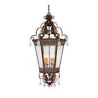 Capital Lighting Grandview 6 Light Foyer Pendant in Dark Spice with Crystals 9343DS-CR photo thumbnail