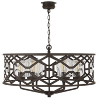 Capital Lighting 934461OZ Signature 6 Light 32 inch Oiled Bronze Outdoor Hanging Chandelier
