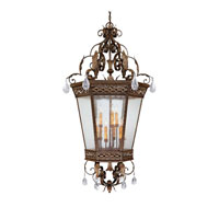Capital Lighting Grandview 9 Light Foyer Pendant in Dark Spice with Crystals 9344DS-CR photo thumbnail
