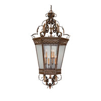 Capital Lighting Grandview 9 Light Foyer in Dark Spice with Seeded Glass 9344DS photo thumbnail