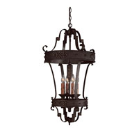 River Crest 4 Light 19 inch Rustic Iron Foyer Ceiling Light