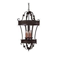 River Crest 6 Light 25 inch Rustic Iron Foyer Ceiling Light