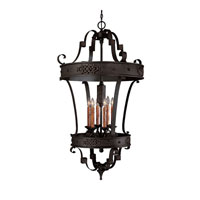 River Crest 6 Light 28 inch Rustic Iron Foyer Ceiling Light