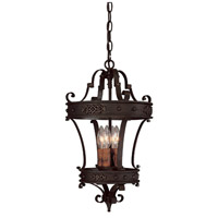 River Crest 4 Light 12 inch Rustic Iron Foyer Ceiling Light