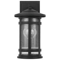 Capital Lighting 935511BK Mission Hills 1 Light 14 inch Black Outdoor Wall Lantern