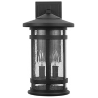 Capital Lighting 935521BK Mission Hills 2 Light 17 inch Black Outdoor Wall Lantern