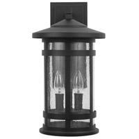 Capital Lighting 935521BK Mission Hills 2 Light 17 inch Black Outdoor Wall Lantern