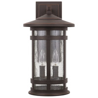 Capital Lighting 935521OZ Mission Hills 2 Light 17 inch Oiled Bronze Outdoor Wall Lantern