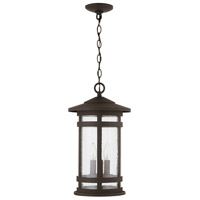 Capital Lighting 935532OZ Mission Hills 3 Light 11 inch Oiled Bronze Outdoor Hanging