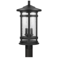 Capital Lighting 935533BK Mission Hills 3 Light 21 inch Black Outdoor Post Mount