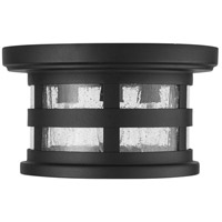 Capital Lighting 935534BK Mission Hills 3 Light 11 inch Black Outdoor Flush Mount