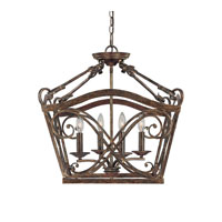 Reserve 4 Light 21 inch Rustic Foyer Ceiling Light